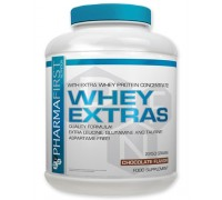 Whey Extras Pharma First  (2,25кг.) Клубника