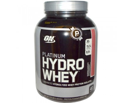 OPTIMUM NUTRITION PLATINUM HYDROWHEY 1590g Клубника